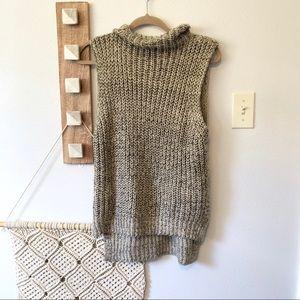 Bishop+Young Cream Marled Turtleneck Sweater